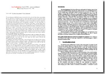 Rousseau, Confessions, La chasse aux pommes : commentaire composé