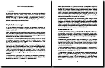 Voltaire, Lettres philosophiques, Lettre X : Sur le commerce (commentaire composé)
