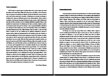 Plutarque, Vie de Thésée : Lorsque le temps de payer le troisième tribut arriva... (commentaire de texte)