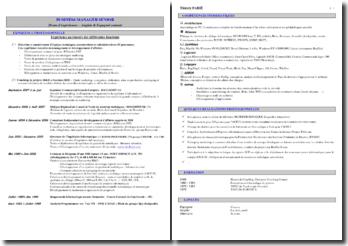 CV pour Business Manager Senior