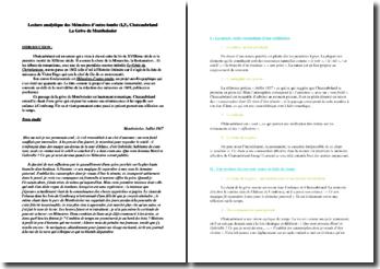 Chateaubriand, Mémoires d'outre-tombe, La grive de Montboissier : lecture analytique