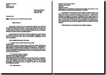 Lettre de non restitution du dépôt de garantie ou de la caution par le propriétaire