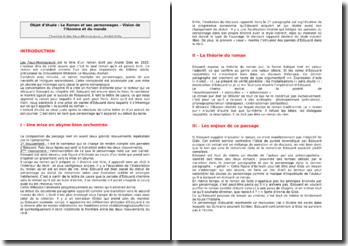 André Gide, Les Faux-Monnayeurs, Chapitre 8 (analyse)