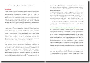 Marguerite Yourcenar, Comment Wang Fô fut sauvé (étude de l'oeuvre)