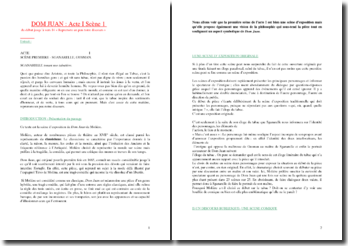Molière, Dom Juam, Acte I scène 1 : Quoi que puisse dire Aristote et toute la Philosophie...