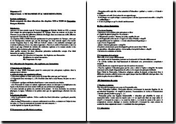 Gargantua de Rabelais : étude comparée des deux éducations