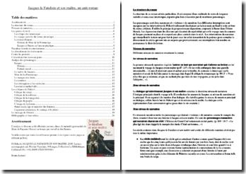 Diderot, Jacques le fataliste et son maître : un anti-roman