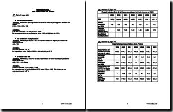 Méthodologie de calculs économiques en Terminale ES