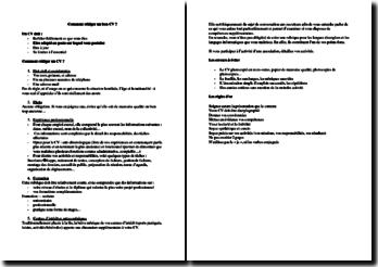 Comment rédiger un bon CV ?