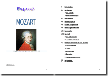 Wolfgang Amadeus Mozart : vie et oeuvre