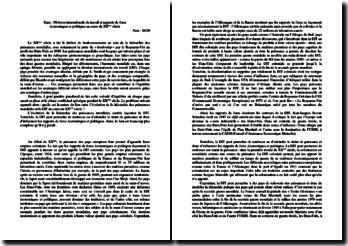 Division internationale du travail et rapports de force économiques et politiques au cours du XXème siècle