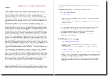Diderot, Supplément du voyage de Bougainville (étude d'un extrait)
