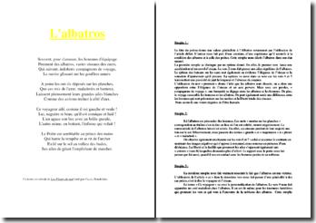 Baudelaire, Les Fleurs du Mal, L'Albatros : lecture analytique linéaire