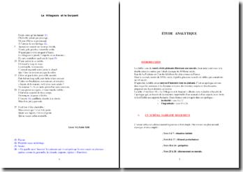 La Fontaine, Le Villageois et le Serpent : étude analytique