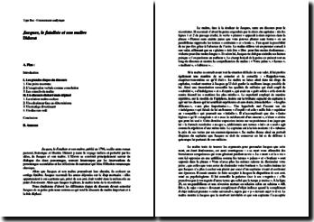 Diderot, Jacques le Fataliste et son Maître, analyse du discours funèbre