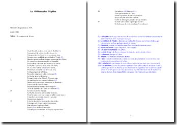 La Fontaine, Le Philosophe Scythe : étude analytique