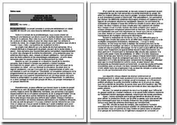 Synthèse de TPE/PPE en Sciences de l'ingénieur