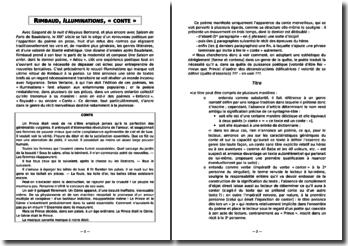 Rimbaud, Illuminations, Conte (analyse)