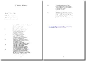 La Fontaine, Le Lion et le Moucheron (étude analytique)