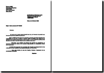 Lettre de motivation substitut du procureur