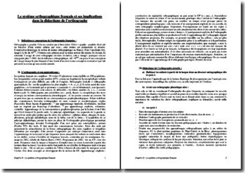 Le système orthographique français et ses implications dans la didactique de l'orthographe (CRPE)
