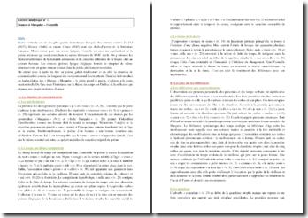 Corneille, Stances à Marquise : lecture analytique