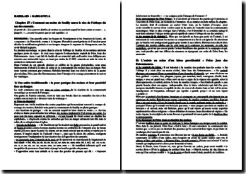 Rabelais, Gargantua, Chapitre 27 (extrait)