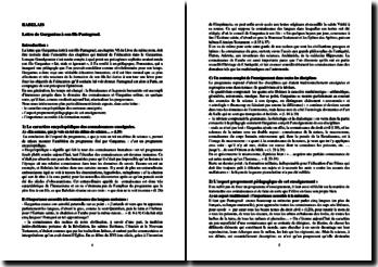 Rabelais, Pantagruel, Lettre de Gargantua à son fils Pantagruel