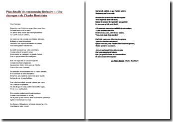 Baudelaire, Une Charogne, extrait de Les Fleurs du Mal : plan détaillé de commentaire