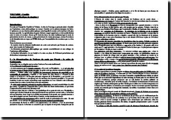Voltaire, Candide : lecture méthodique du Chapitre 1