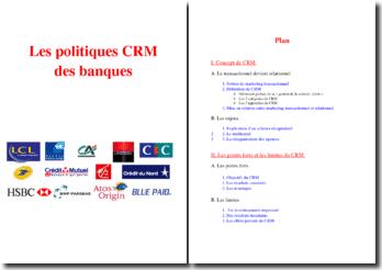Les politiques CRM (Customer Relationship Management) des banques