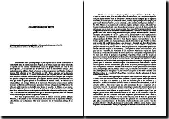 Thucydide, Histoire de la Guerre du Péloponnèse : L'oraison funèbre prononcée par Périclès