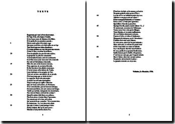 Voltaire, Le Mondain : étude analytique