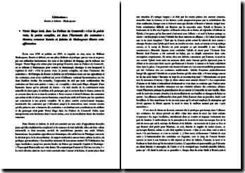 Victor Hugo : Car la poésie vraie, la poésie complète, est dans l'harmonie des contraires