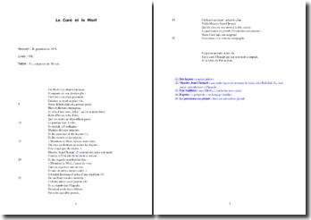La Fontaine, Le Curé et le Mort : étude analytique