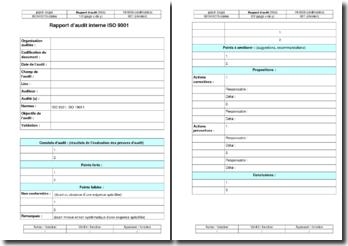 Instruction qualité : rapport d'audit