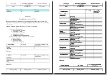 Instruction qualité : enquête de satisfaction client en anglais