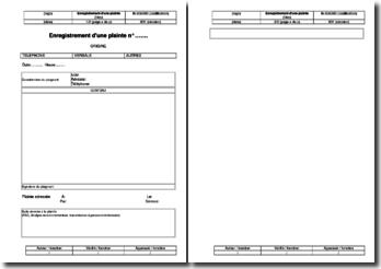 Instruction environnement : enregistrement d'une plainte