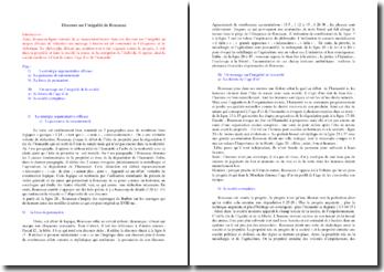 Rousseau, Discours sur l'inégalité : analyse