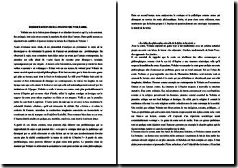 Le conte Voltairien et L'Ingénu
