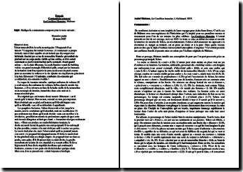 Malraux, La Condition Humaine, Incipit : commentaire composé