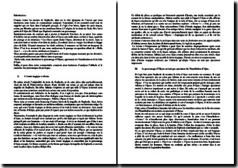 Sophocle, Ajax, Extrait : commentaire