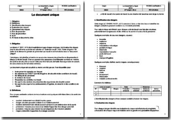 Instruction SST : le document unique