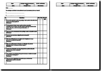 Instruction SST : sondage mensuel du personnel