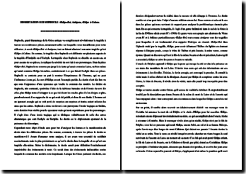 Sophocle, Antigone et Oedipe roi : dissertation