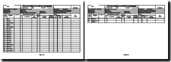 Plan de surveillance (modèle, Excel)