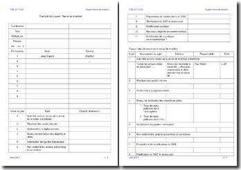 Exemple de support Revue de direction ISO 14001