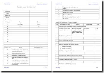 Revue de direction OHSAS 18001 (modèle)