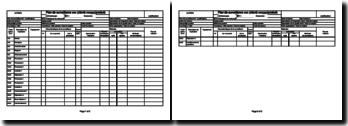 Instruction qualité : plan de surveillance - Excel