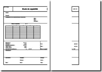 Instruction qualité : étude de capabilité - Excel
